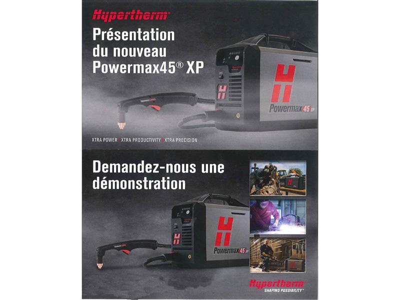 DECOUVREZ LE PLASMA POWERMAX 45 XP