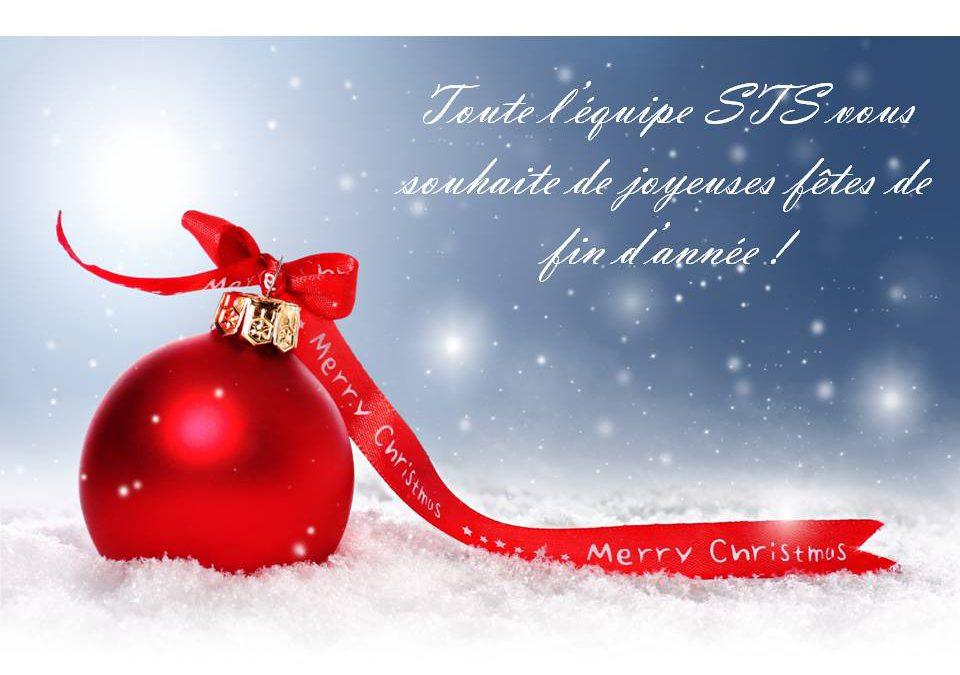 Votre partenaire STS restera ouvert durant les fêtes de fin d'année.